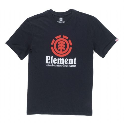 ELEMENT MENS T SHIRT.VERTICAL BLACK COTTON SHORT SLEEVED SKATER TOP TEE 8S A6 3